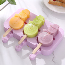 цена на 4pcs/lot Silicone Ice Cream Molds Ice Lolly Moulds Freezer Ice Cream Bar Molds with Popsicle Sticks Eco-Friendly