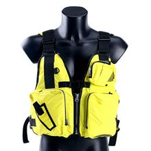 Adult Life Vest Multi Pocket Waterproof Reflective Adjustable Waistcoat Jacket Kayaking Fishing Canoeing Survival Sportswear