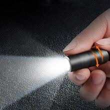 미니 USB 직접 충전 LED 손전등 휴대용 키 체인 토치 IPX8 방수 10180 배터리 조명 야외 비상 조명