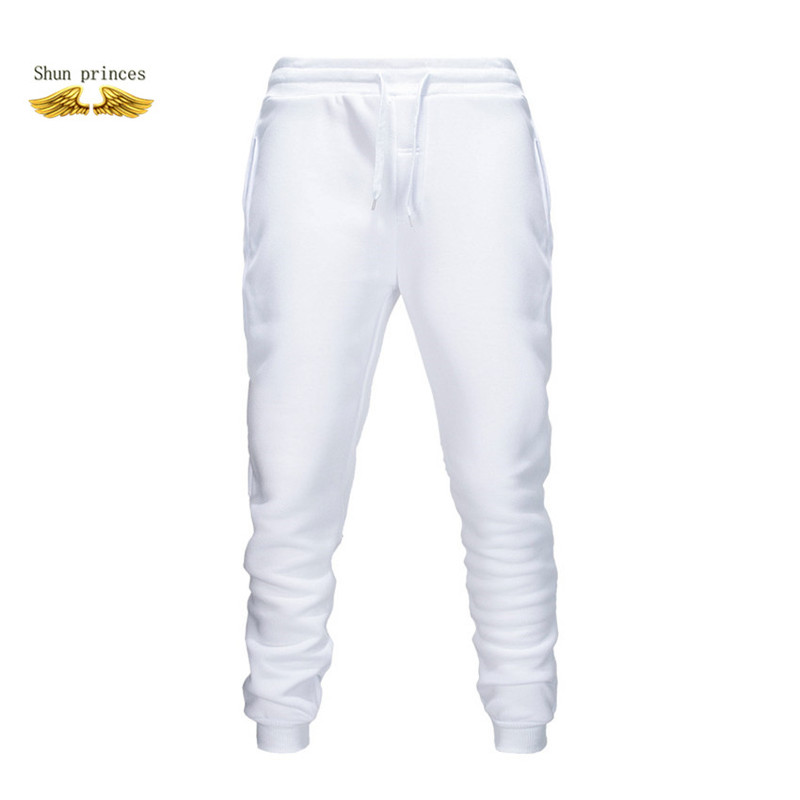 Package Mail Sweatpants Men 2020 Mens Joggers Pants Cotton Full Length Elastic Waist Full Length  Gothicmen Clothing Pure Color