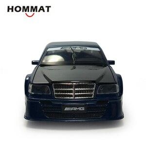 Image 5 - Hommat mercedes c class amg 1:32 escala modelos carro veículo liga diecast brinquedo modelo de carro crianças presente brinquedos para crianças som luz