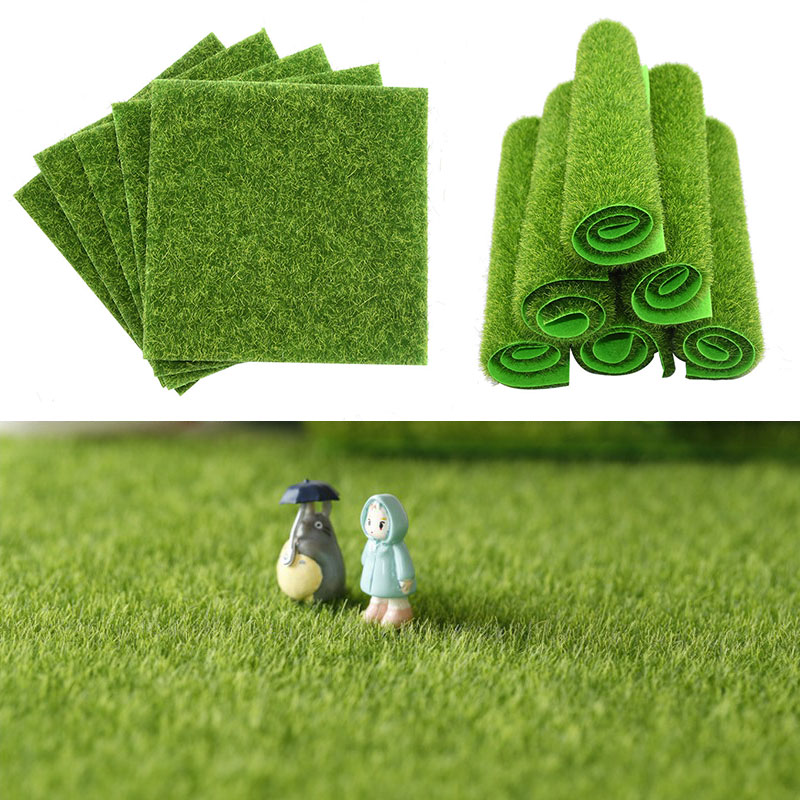 15/30cm Artificial Fake Grass Carpet Green Turf Grass For Home Garden Floor Decor DIY Wedding Decoration Artificial Lawns Mat 1p
