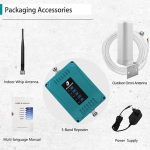 Image 5 - 800/900/1800/2100/2600/MHz 2G 3G 4G GSM مكرر شبكة المحمول الداعم هاتف محمول مكرر 4G LTE مكبر للصوت إشارة الداعم مجموعة