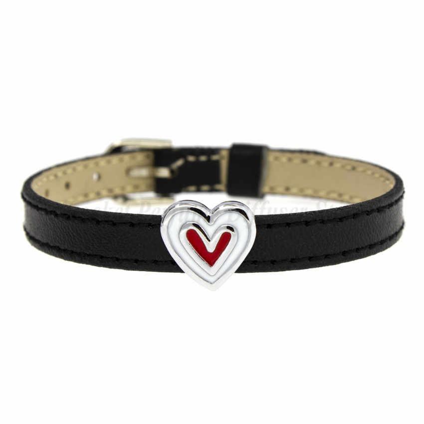 1Pc 8MmดอกทานตะวันสุนัขCat Bear Paw Heart Slider Charms Fitสัตว์เลี้ยงDIYสายรัดข้อมือสร้อยข้อมือผู้หญิงผู้ชายเครื่องประดับคริสต์มาสของขวัญ