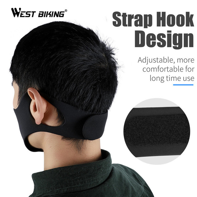 WEST BIKING Cycling Mask Sport Face Mask PM2.5 Anti Pollution Activated Carbon  Filter Training Running Bike Mask 2