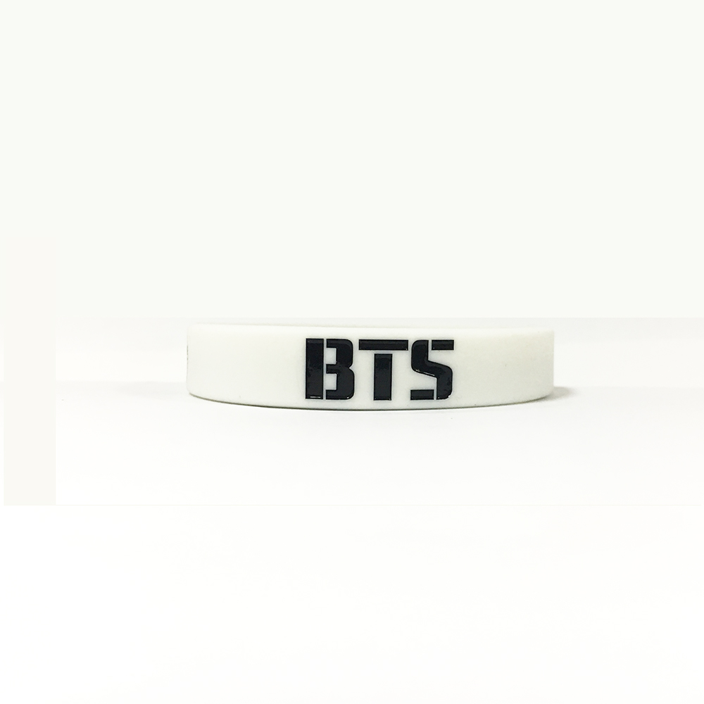 BT21 4 color body armor LOGO Korean star men's group silicone bracelet jewelry