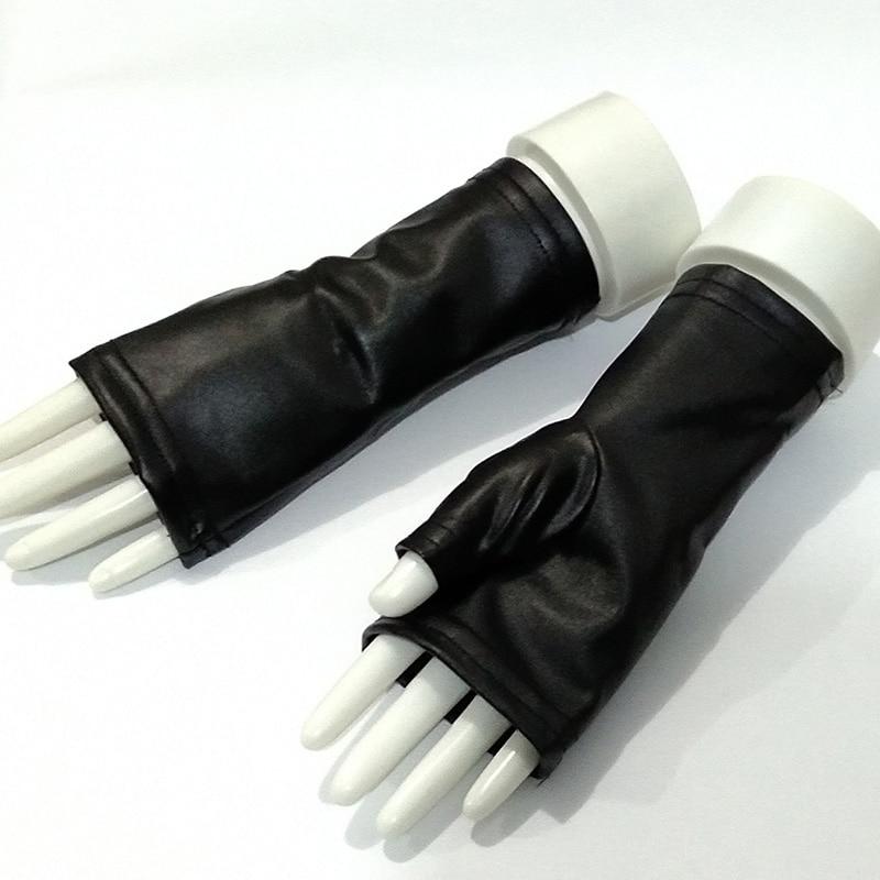 Fashion Female Thin PU Leather Punk Dance Gloves Women Half Finger Non-slip Driving Sexy Fingerless Nightclub Show Gloves S89