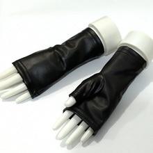 Fashion Female Thin PU Leather Punk Dance Gloves Women Half Finger Non-slip Driv