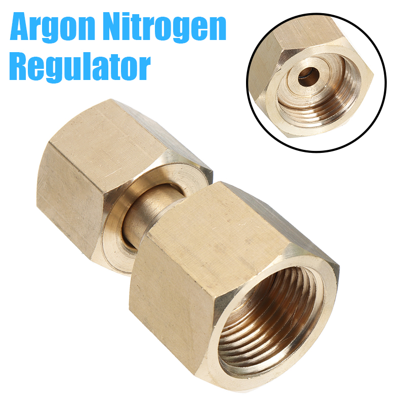 New Adaptor CGA-320 To CGA-580 CO2 Cylinder To Argon Nitrogen Regulator Converts TIG Welding Gas Pressure Flow Regulator
