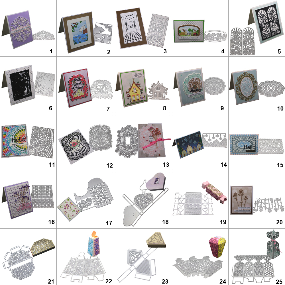 Lace Frame Metal Cutting Dies Stencil Scrapbook Embossing Card Album Craft DIY