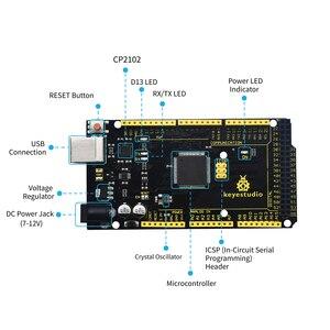 Image 3 - نسخة محدثة Keyestudio سوبر كاتب عدة مع لوحة Mega2560R3 (USB المسلسل رقاقة هو CP2102) لاردوينو كاتب عدة + البرنامج التعليمي
