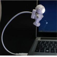 Creative Spaceman Astronaut LED Flexible USB Light Night Light for Kids Toy Laptop PC