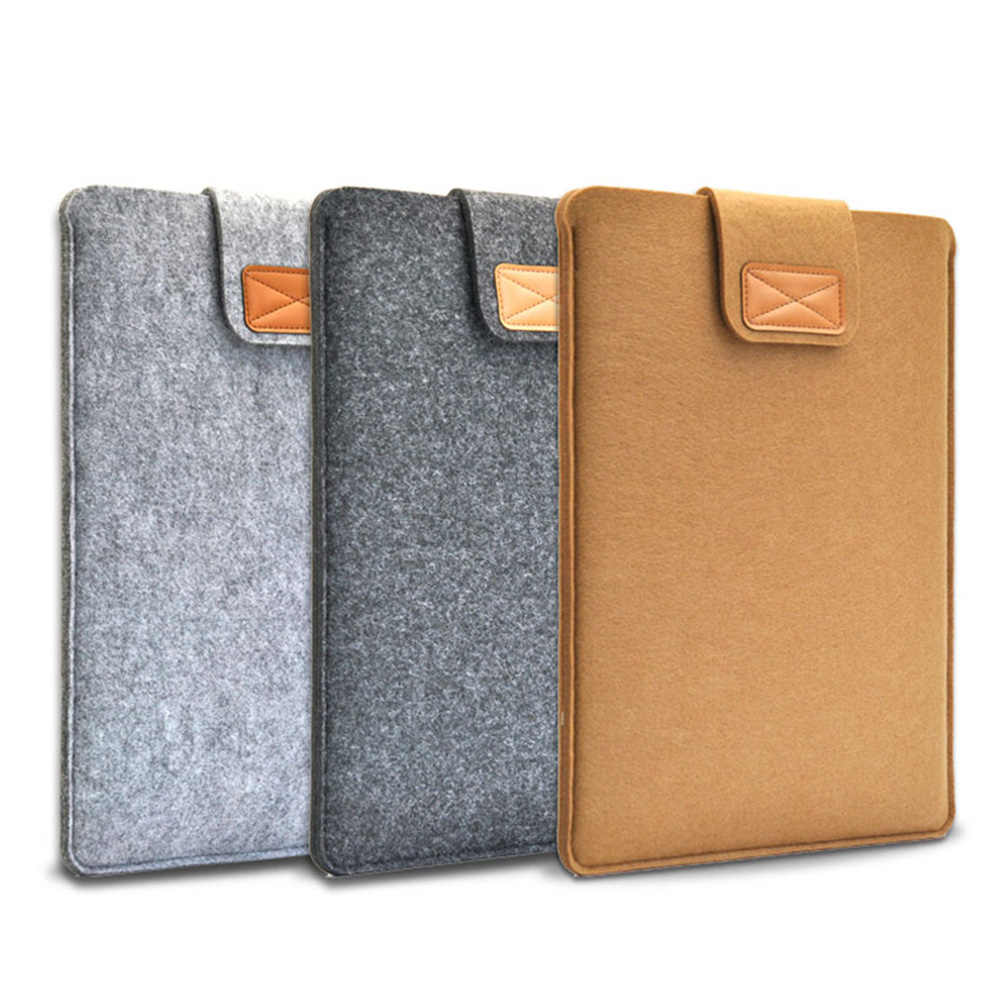 Ultra Dunne Draagbare Laptop Sleeve Case Voor Macbook Air Pro Retina 11/13/15 Inch Wolvilt Soft Bag Cover voor Mac Boek 13.3 Inch