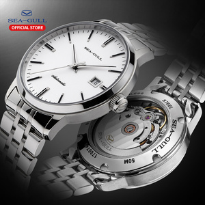 Image 1 - 2020 Seagull Mens and Womens Watches Business Automatic Mechanical Steel Band Calendar Waterproof Simple Fashion Watch 816.362