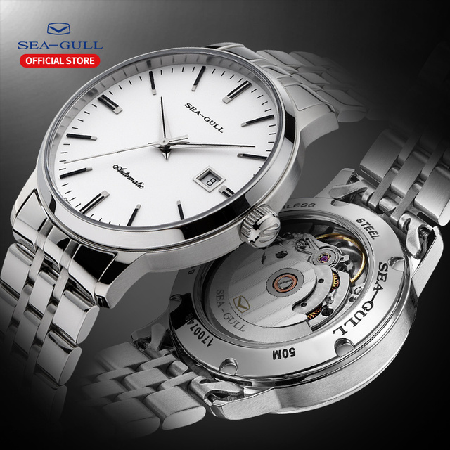 2020 Seagull Mens and Womens Watches Business Automatic Mechanical Steel Band Calendar Waterproof Simple Fashion Watch 816.362