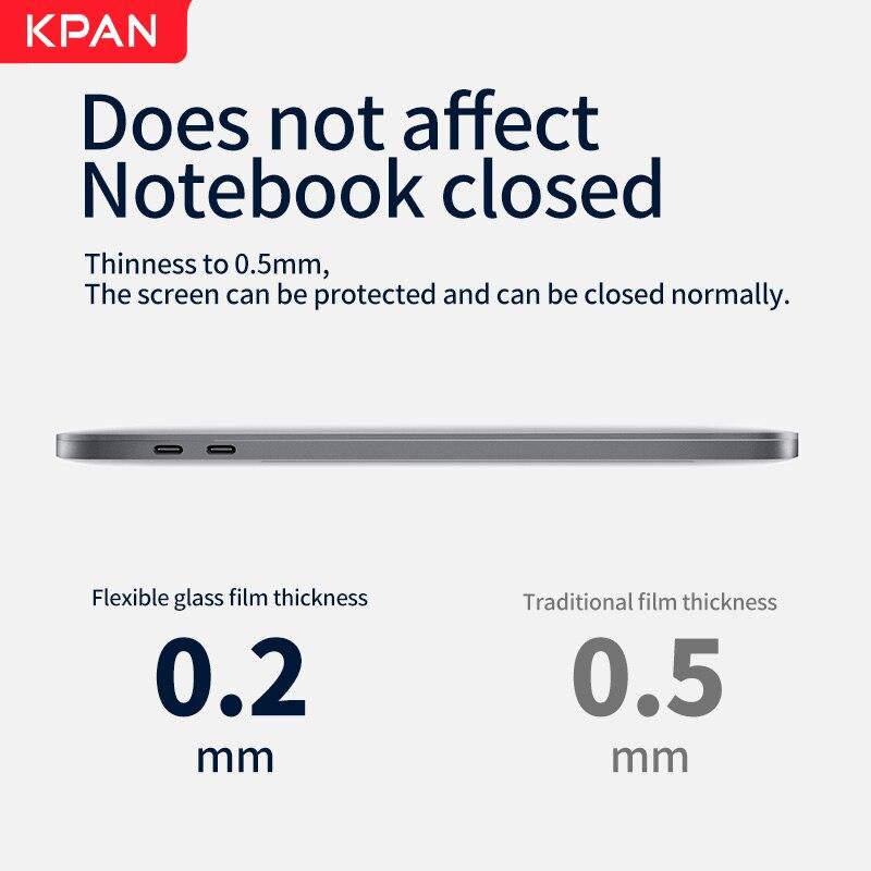 KPAN Chip de HD para Macbook Pro 13 2020 M1 A2337 2338 Protetor De Tela Pro Ar 12 13 15 16 2179 2289 1706 2251 Filme De Vidro Flexível-5