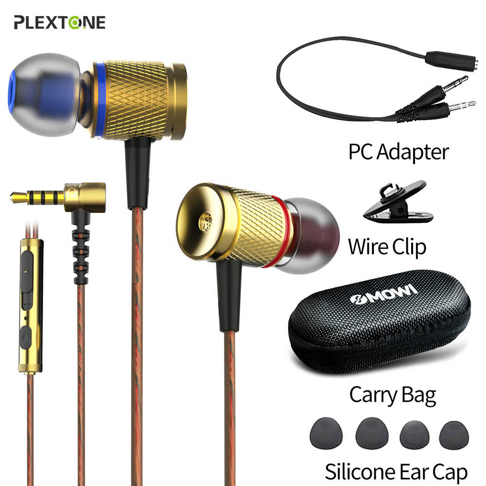 Plextone Dx2 Gaming Earphone Headset-Gold