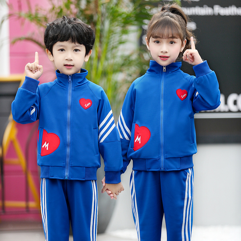 Childrenswear 2019 New Style Spring And Autumn Two-Piece Set Primary School STUDENT'S School Uniform Kindergarten Suit Sporty