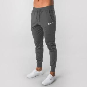 Повседневные новые мужские штаны для бега, фитнеса, мужская спортивная одежда, спортивные штаны, обтягивающие спортивные штаны, черные спор...