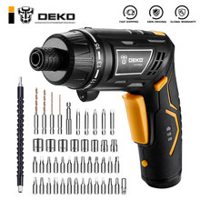 DEKO — Tournevis électrique DCS3.6DU2 S1/S2 sans fil, batterie rechargeable, outil avec poignée pliable, lampe torche LED