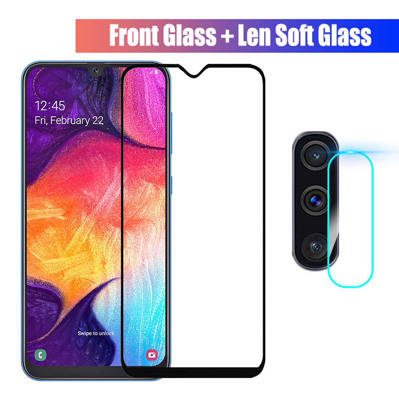 2-in-1 Protective Glass For Samsung Galaxy A50 A40 70 A30 A20 A10 Tempered Glass & Camera Lens For Samsung A 50 Screen Protector