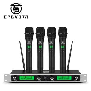 Image 1 - EPGVOTR 4 Channels UHF Wireless Microphone System EP 400 with 4 Metal Material Handheld Transmitters for Stage Church Family DJ