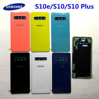SAMSUNG Galaxy S10 S10 Plus S10e z powrotem szklana pokrywa baterii obudowa na tył telefonu etui do SAMSUNG S10 S10 + S10e tylna szyba pokrywa tanie i dobre opinie CN (pochodzenie) Plastic+glass S10e S10 S10 Plus Dla Galaxy S
