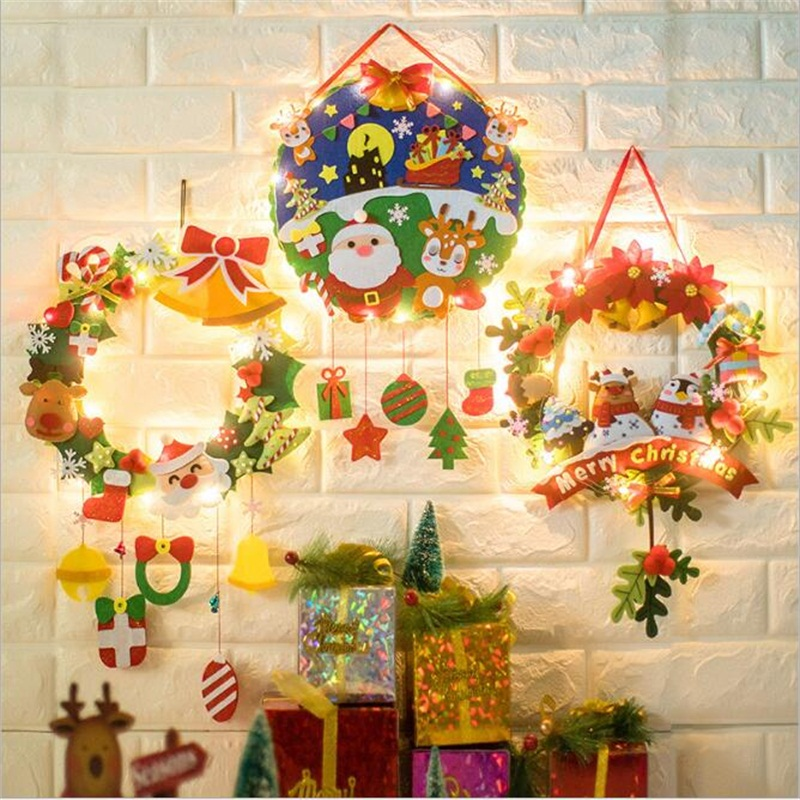 DIY Christmas Wind Chimes Decoration Kindergarten Learning Education Kids Craft Toys Home Decoration Christmas Gifts