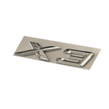 Letter Number Emblem for BMW X3 Trunk Model Name Badge Car Styling Refitting Sticker Chrome Silver image