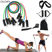 Fitness Resistance Bands Tubes Yoga Pull Rope Sport Gum Workout Exercise Gym Rubber Expander Equipment