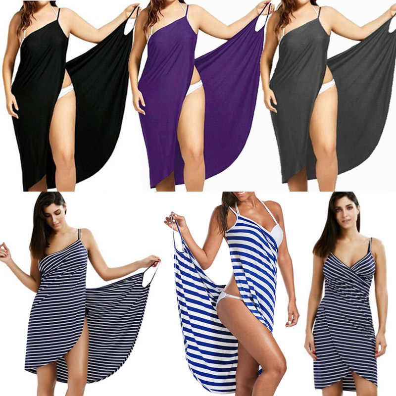 Oufisun Delle Donne Più Il Formato Pareo Beach Cover Up Wrap Dress Bikini Costume Da Bagno Cover Up Robe De Plage Beachwear Femme tunica Caftano