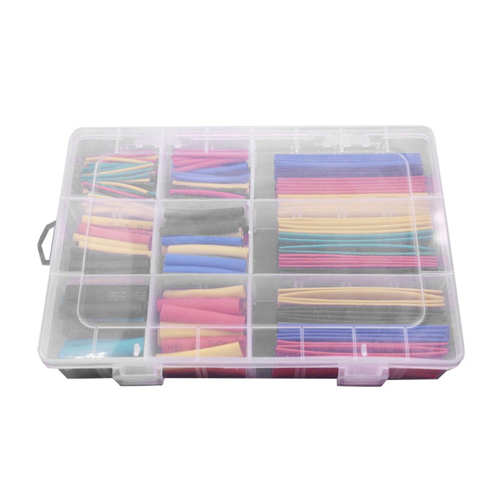 328Pcs/box Polyolefin Shrinking Assorted Heat Shrinkable Tube Wrap Wire Heat Shrink Tubing Insulated Sleeving Tubing Set