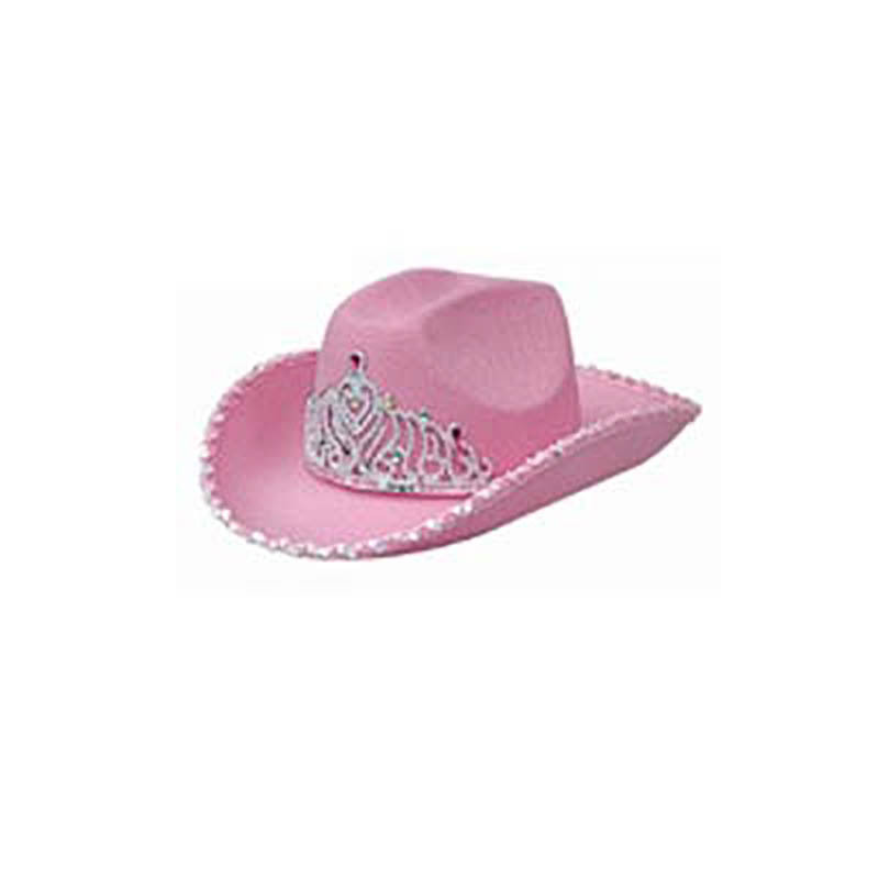 [Manufacturers Direct Selling] Queen Crown Carnival Pink Cowboy Shaping Cap Holiday Party