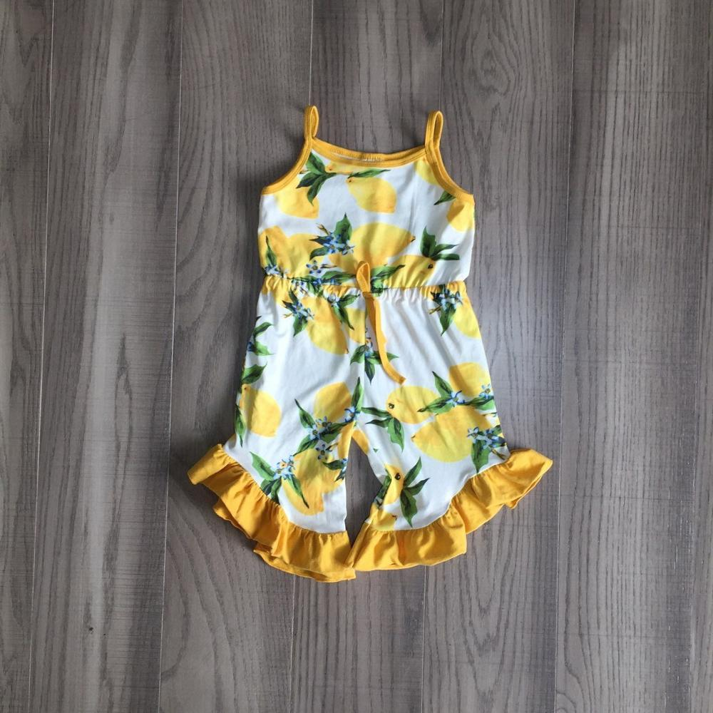 Baby Girls Clothes Girl Lemon Romper Baby Kid Summer Yellow Romper
