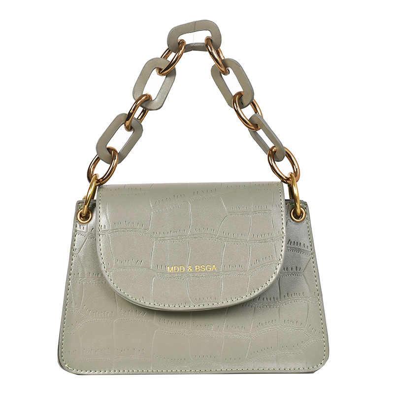 Модная женская мини-сумка-тоут YL, качественная кожаная дизайнерская дамская сумочка с крокодиловым узором, сумка-мессенджер на плечо с цепочкой
