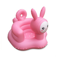 Pink Rabbit Baby Bath Seat Inflatable Chair Portable Baby Tub Beanbags Chair Baby Bath Toys Kids Bean Bag Baby Seat Dropshipping