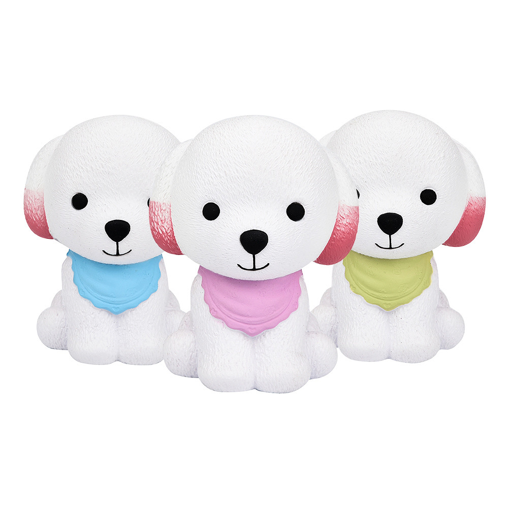 Jumbo Kawaii Scarf Puppy Dog Squishy Simulation Cute Cream Scented Soft Squishies Squeeze Toy Slow Rising Kid Baby Gift Toy