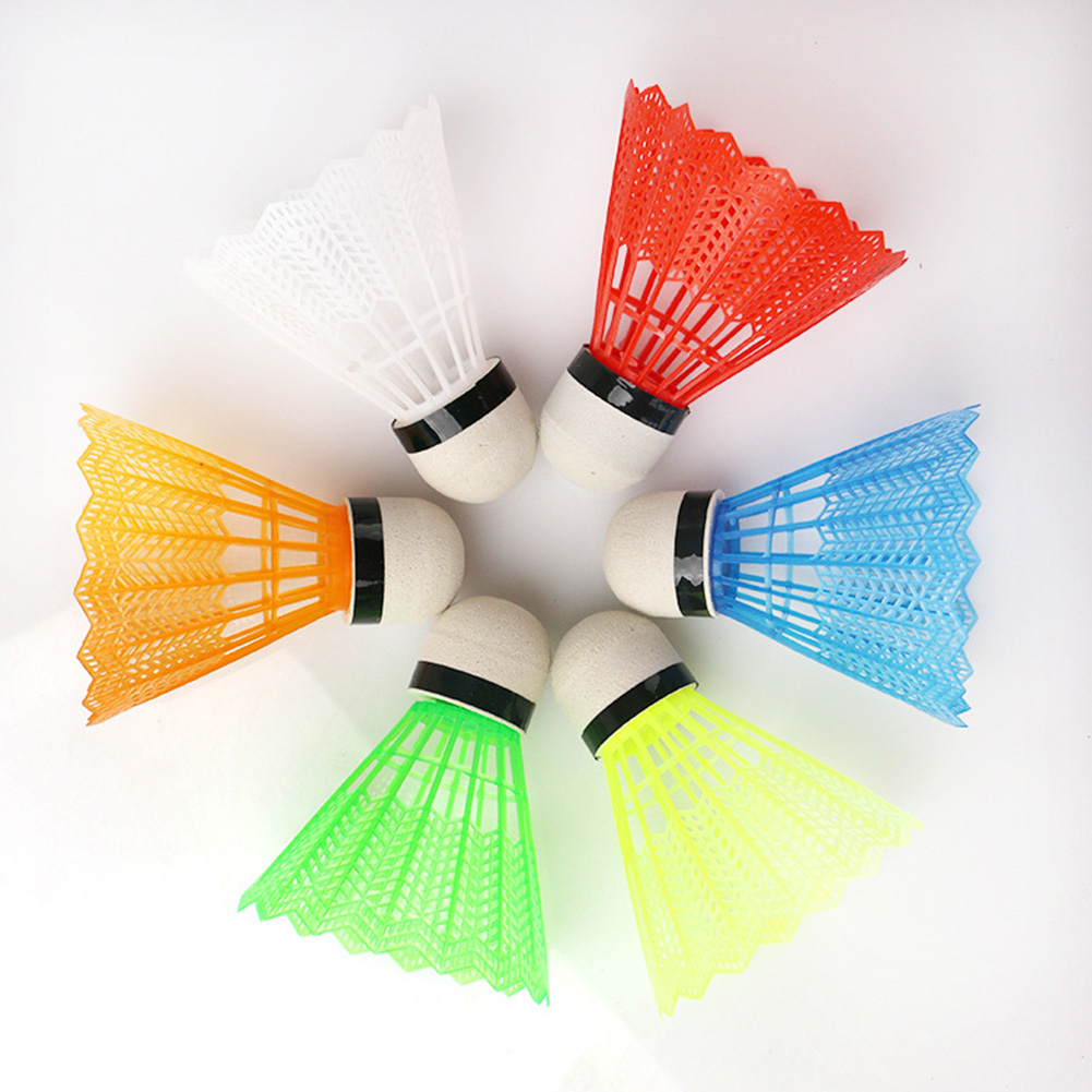 Wear Resistant Durable Sports Training Badminton Ball With Box Portable Adults Indoor Outdoor Gym Reusable Colorful Shuttlecock