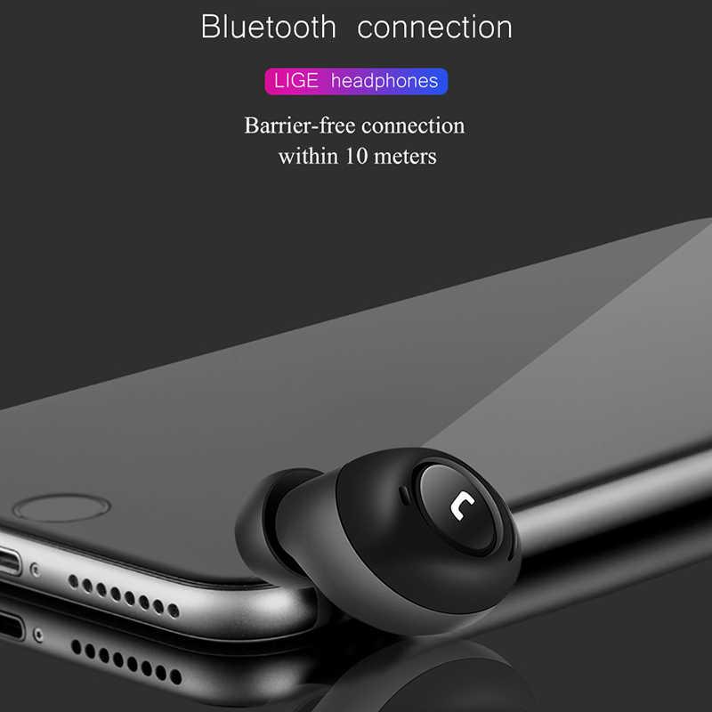 Słuchawki Bluetooth TWS bezprzewodowe słuchawki sportowe Bluetooth 5.0 douszne 3D zestaw słuchawkowy Stereo zestaw głośnomówiący z podwójny mikrofon do telefonu