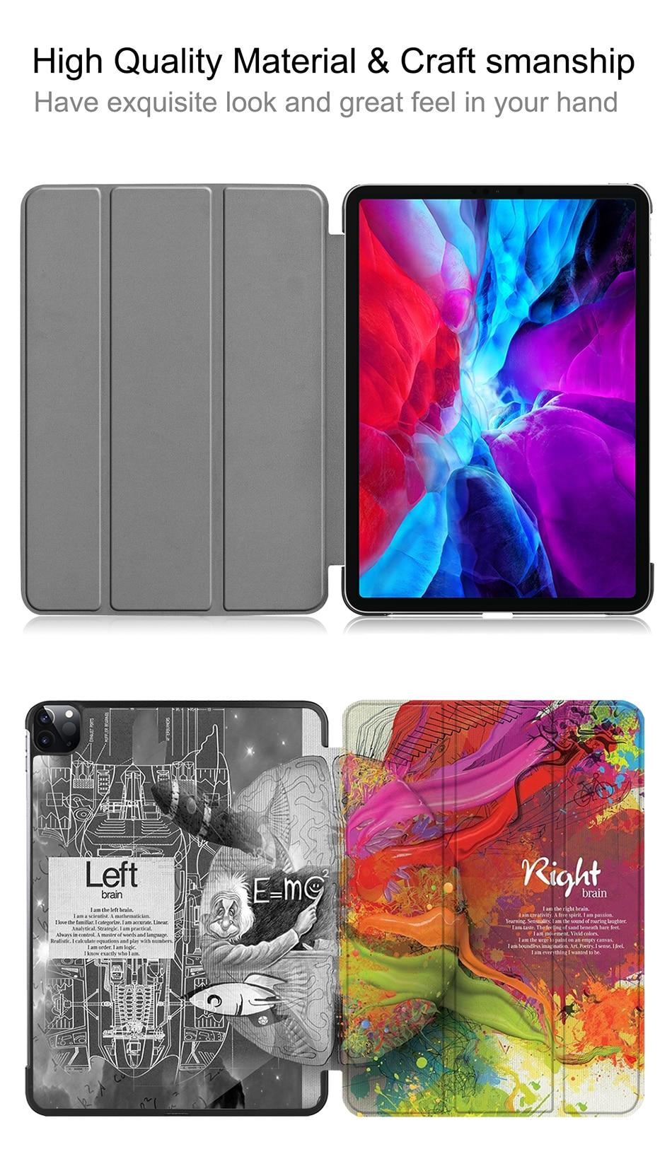 Flip Stand Pro Smart funda Leather Case iPad 3rd PU 2018 Generation For Slim 12.9 MTT