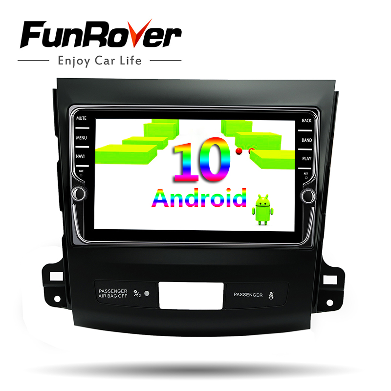 Funrover Android 10.0 For <font><b>Outlander</b></font> xl 2 C-Crosser 4007 2005-2011 Car Radio Multimedia Player Navigation GPS 2din dvd 4G 64ROM image