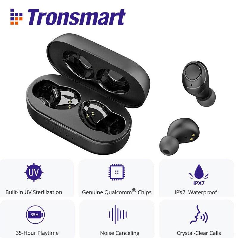 Tronsmart auriculares inalámbricos Onyx Free TWS con Bluetooth, aptX, IPX7, autonomía de 35H, [esterilización UV] Auriculares y audífonos    -