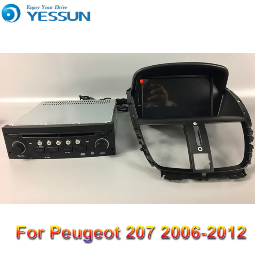 Android Radio Car DVD Player For <font><b>Peugeot</b></font> <font><b>206</b></font>+ / 207 2006-2012 stereo Radio Multimedia GPS Navigation With WIFI Bluetooth image