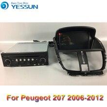 Radio Android reproductor de DVD para coche Peugeot 206 +/207 2006-2012 Radio Estéreo Multimedia navegación GPS con WIFI Bluetooth