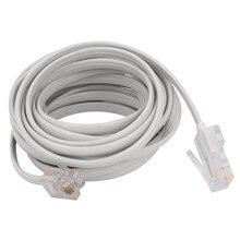 Rj11 6p4c ao cabo modular da extensão da internet do telefone rj45 8p4c 3 medidores