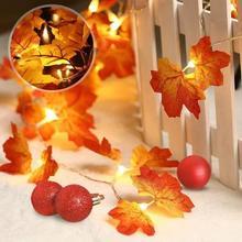 купить Explosion Christmas Day Pendant Leaf Maple Leaf Led Light String Garden Party Room Ins Decorative Lantern Led Light Decorative дешево
