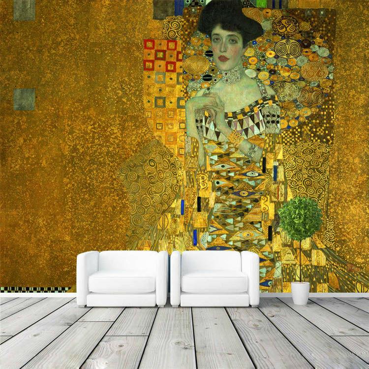 Portrait-of-Adele-Bloch-Bauer-I-Murals-Gustav-Klimt-Painting-Art-Wallpaper-Custom-Large-photo-wallpaper (4)