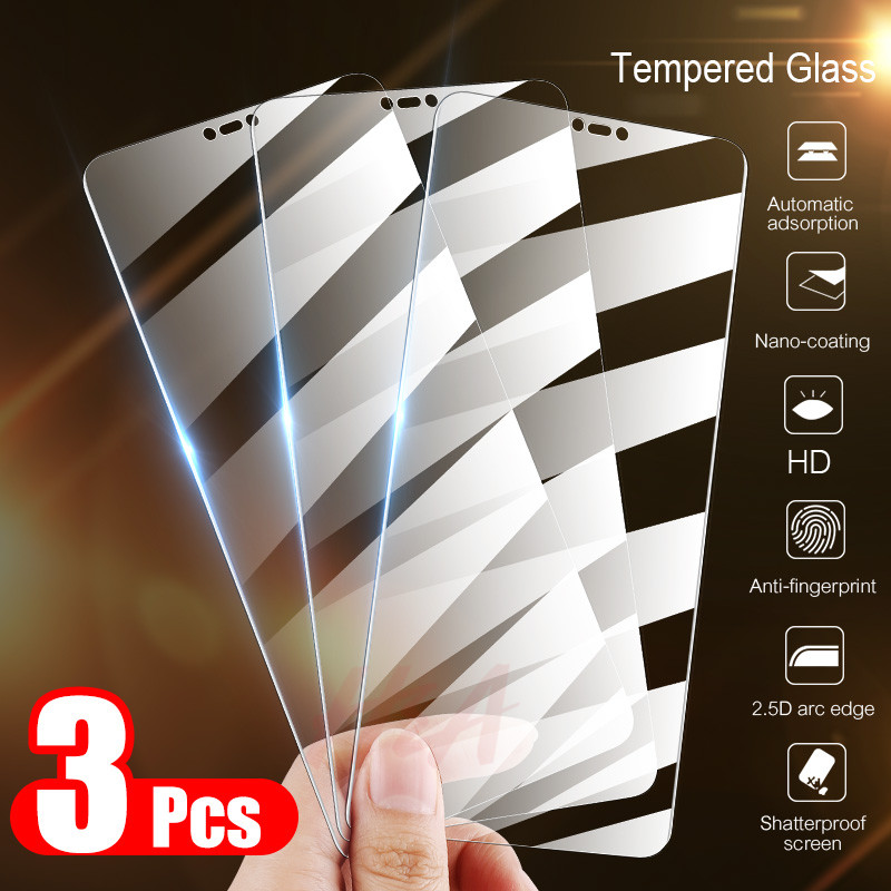 3 Piece Cover Tempered Glass For Huawei P20 Lite Glass For Huawei P30 Mate 20 Lite Pro Glass P Smart 2019 Glass Screen Protector