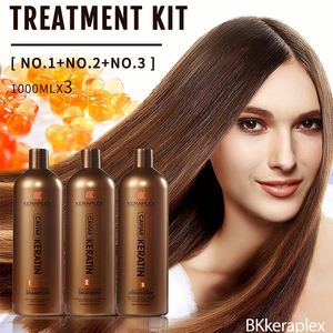 Brazilian Blow Dry Hair Treatment Keratin Hair Salon Blowout Therapy Straighten Good For Thin Hair Complex Shampoo Conditioner