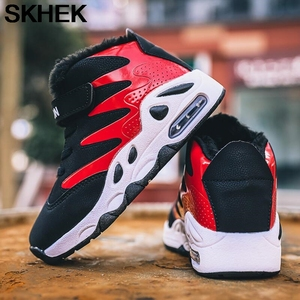 Image 4 - Winter Children Sneakers  New Velvet Martin Boots Elastic Band Kids Casual Shoes Boys Girls Snow Boots Plush Fashion Boots